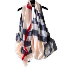 New arrival fashion strips textured pattern ladies muslim hijab scarf fashion imitated silk scarf 2017 multi wear summer scarf