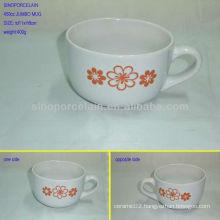 Nice 450cc flower embossed jumbo mug for BS0228G