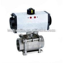 Actionneur pneumatique 3PC vis fin robinet à boisseau sphérique