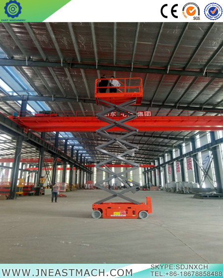 Single Person Hydraulic Scissor Lift Table Self Propelled Platform