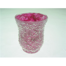 Hot and New Release Sand Blast/ Sand Covering Glass Hurricane Lamp