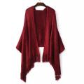 Écharpe châle-écharpe tricotée à capuche (SP284)