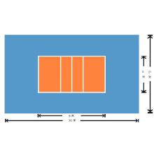 Volleyball de PVC de suelo deportivo