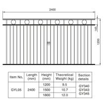 Elegant Style 1.2/1.5/1.8m. H X 2.4 M. W Aluminum Black Fence Section