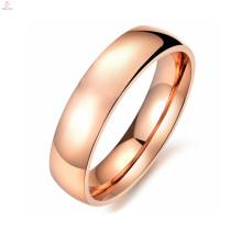 Femmes échantillon gratuit en acier inoxydable métal or rose coulant O bague bijoux