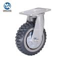Roda resistente do rodízio da placa do giro de 6 polegadas