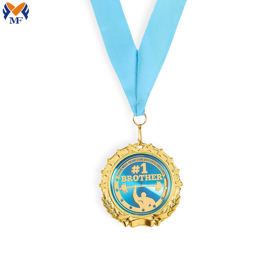 Metal Blue Medal