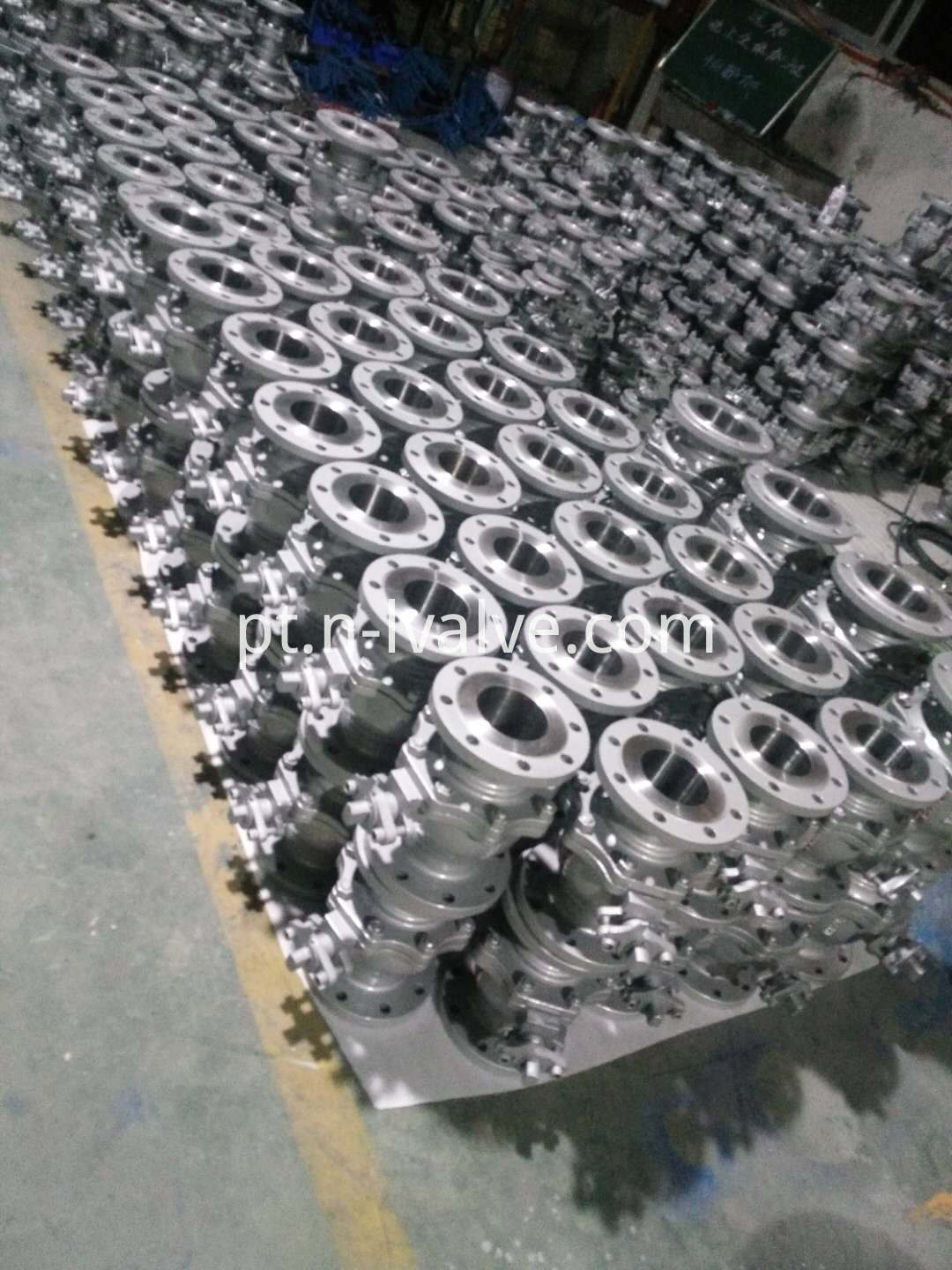 Two Pcs Casted Steel Ball Valve ()