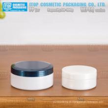 WJ-EQ série especial recomendado 50g e 100g única camada brilhante acabamento bonito proporção redondo embalagem frasco cosmético de pp