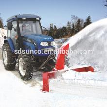 Lame à neige avant et balayeuse à neige arrière pour tracteur