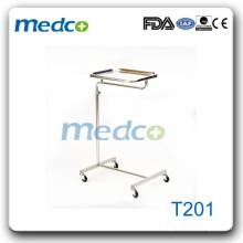 Chariot de trolley pour hôpitaux en acier inoxydable T201