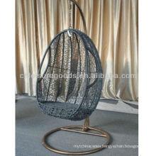Grey Round Rattan Garden Chair