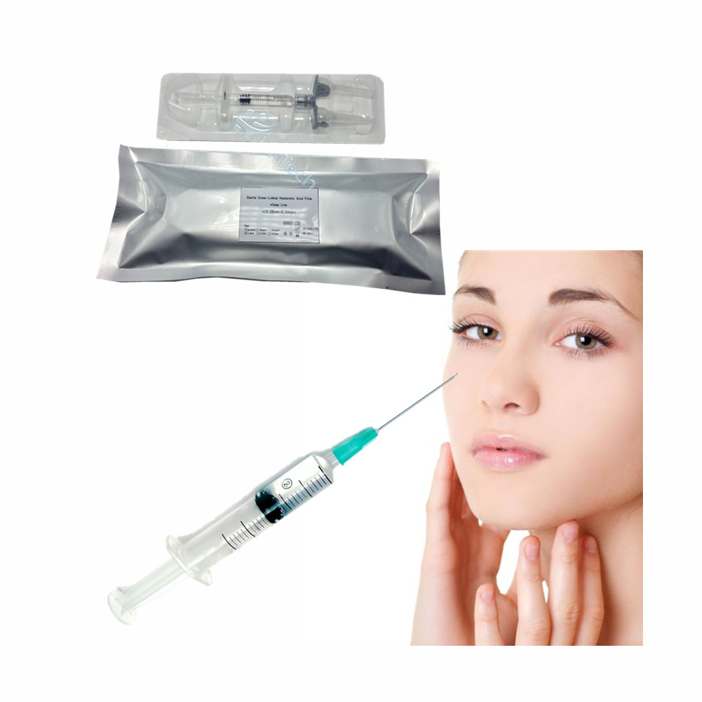 2ml hyaluronic acid injection for the correction of wrinkles