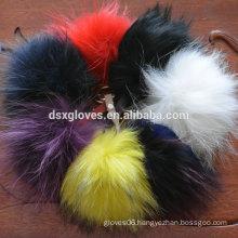 Popular Top Quality Fur Ball Keychain Wholesale Fluffy Raccoon Fur Pom Pom