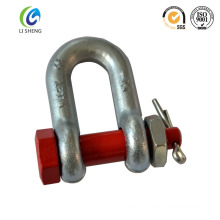Hot dip galvanized color painted d shackle