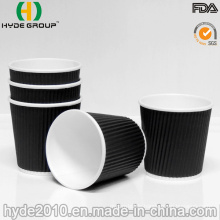 4 Oz Disposable Ripple Wall Coffee Paper Cup for Tasting