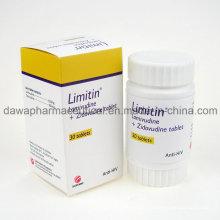Drogas para tratamento de Saúde HIV Lamivudina 3tc + Zidovudinum da tabuleta