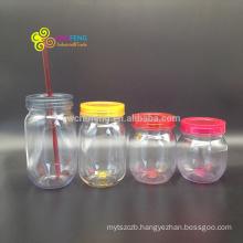 Best Sale 500ml Custom Wholesale Mason Jars with Lids and Straws