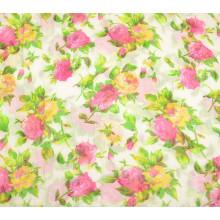 Customed Spun poliéster impreso tela de la bufanda