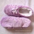 Purple bow home slipper winter 2019 women ballerina shoes