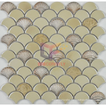 Cream Beige Ceramic with Light Emperedor Marble Mosaic (SA003)
