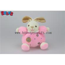 """5.9 """"China Plüsch Baby Spielzeug Nette weiche rosa Kaninchen Häschen Tiere mit Ring Rattle"""