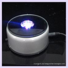 Base de luz LED giratoria de plástico con espejo para pantalla de cristal 2D / 3D