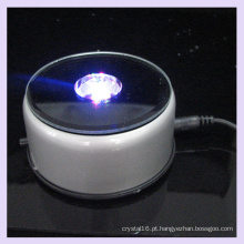 Base clara girando do diodo emissor de luz do plástico do espelho para a exposição de cristal 2D / 3D