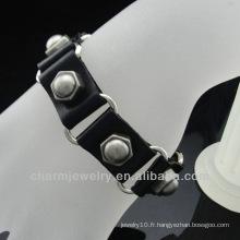 Bracelet en cuir véritable en cuir véritable BGL-032