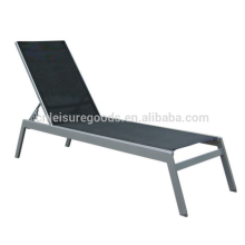 Outdoor chaise aluminum sling beach lounge chair