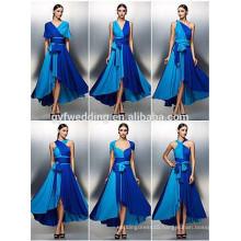 Free Shipping Royal Blue Chiffon Evening Dress Design Open Back Prom Dress Sleeveless Graduation Dresses 2016 C47-1