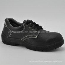 Zapatos de seguridad de cuero negro completo para hombres