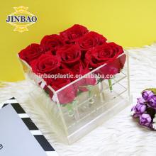 Jinbao cristal regalo novia boda decoración claro 9 16 36 caja de acrílico de la flor