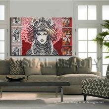 Modern Promotional Picture Women Portrait Canvas Wall Art For Decor