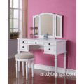 White color dressing makeup table Vanity Set with Stool