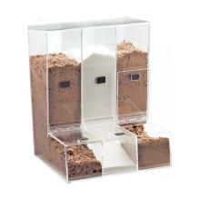 Supermarket Candy&Food Storage Box Bins Top Load 3 Slots Clear Acrylic Bulk Food Dispenser