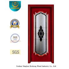 Puerta de acero estilo europeo con vidrio (s-1016)