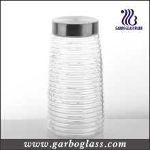 Conteneur à bouteilles et aliments à haute teneur en talons à rayures croisées (GB2102F-1)