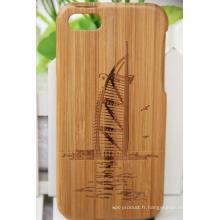 Snap Wood Case Cover Coated pour iPhone 6 / 6s (écran 4.7)