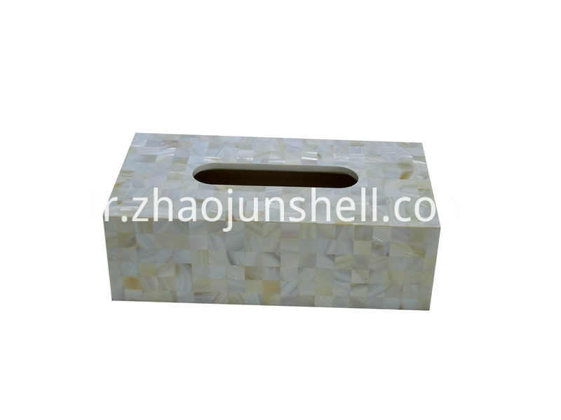 freshwater shell tissue box