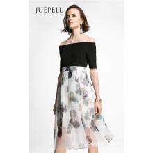 off Shoulder Print Women Dress