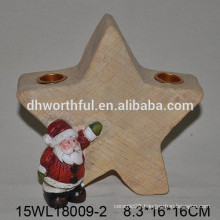 Ceramic Christmas candle holder with star shape