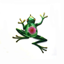 Traditional Gardne Metal Frog Wall Decoration with Stained Glass