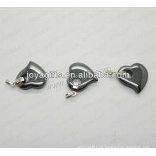 01P1005S / pendiente de la forma del corazón / encanto del corazón / ajuste hueco del corazón / accesorio de la forma del corazón con la plata que encuentra / colgante hueco del melocotón