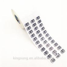 Rolo de etiqueta de código de barras de papel adesivo para impressão por atacado