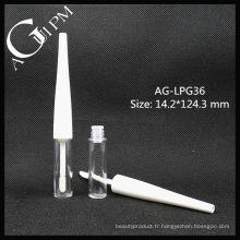 Mignon plastique rond Lip Gloss Tube AG-LPG36, AGPM emballage cosmétique, couleurs/Logo personnalisé