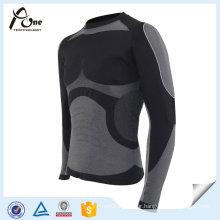 Nylon Polyester Thermal Shirts Men Sexy Basic Thermal Underwear