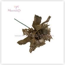 PVC Artificial X′mas Decorative Flowers for Christmas Tree Decoration