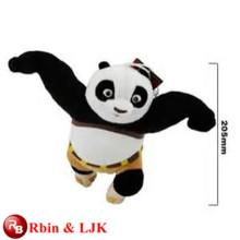 OEM soft ICTI plush toy factory kungfu panda plush toy