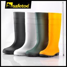 Bottes de pluie en gelée, bottes en caoutchouc naturel, bottes pli pour hommes doux W-6036